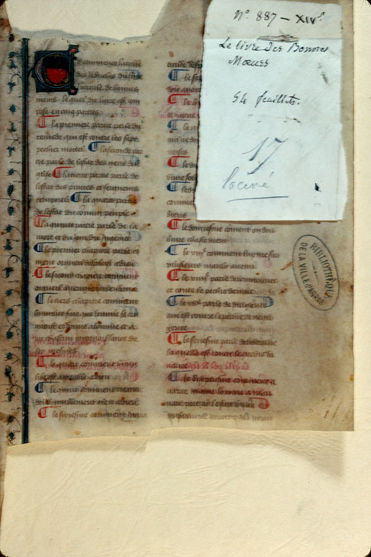 Arras, Bibl. mun., ms. 0887, f. 001