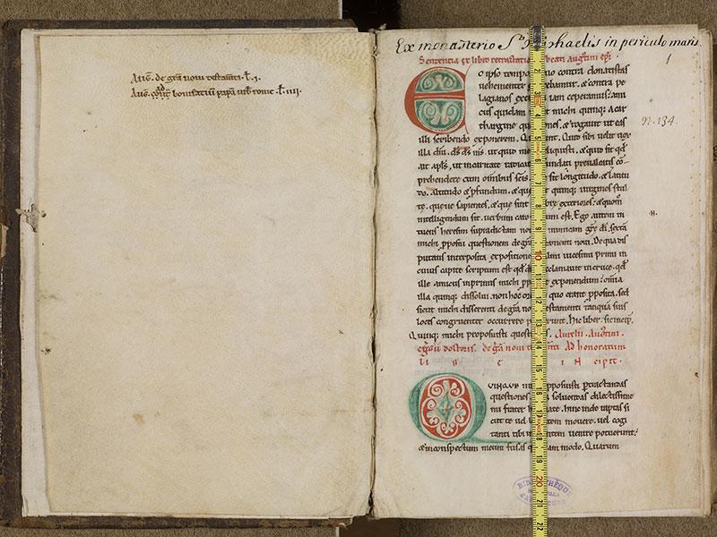 AVRANCHES, Bibliothèque municipale, 0088, f. 000Bv - 001 avec réglet