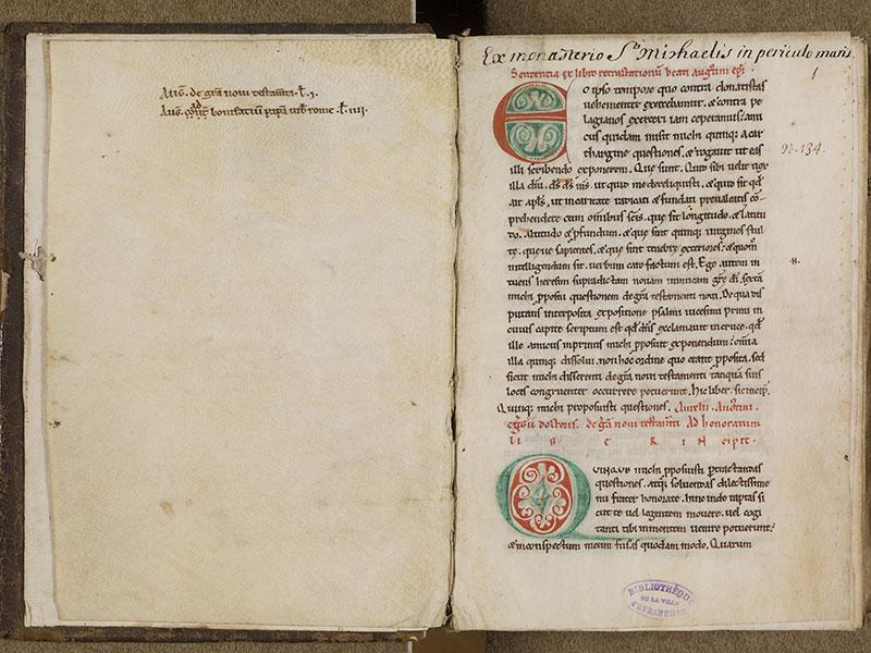 AVRANCHES, Bibliothèque municipale, 0088, f. 000Bv - 001