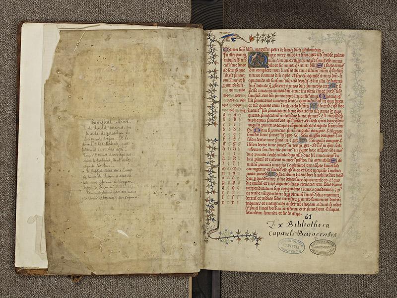 BAYEUX, Bibliothèque du chapitre, 0061, f. 000Dv – 001