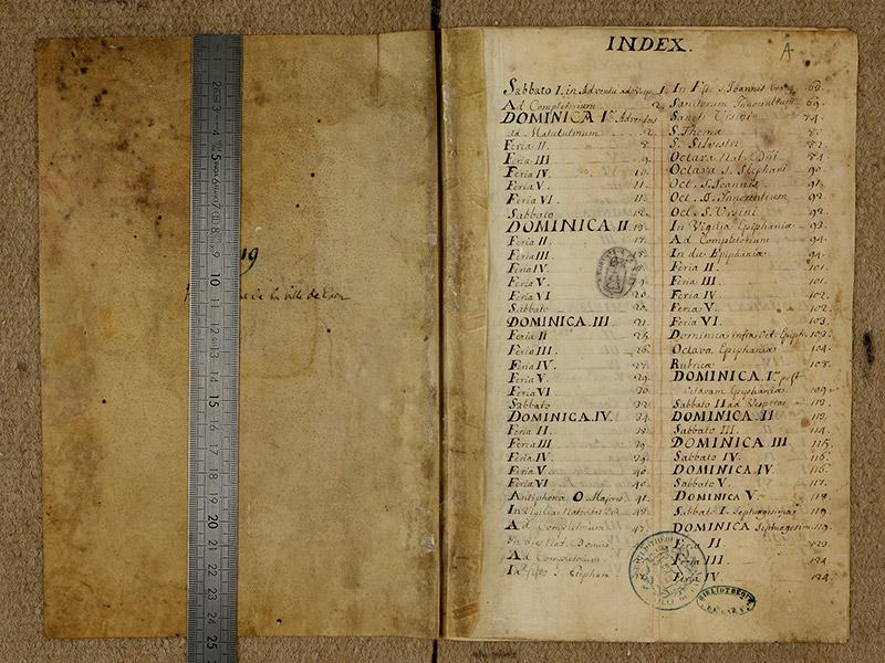 CAEN, Bibliothèque municipale, 0024 (041 in-4° 019), f. 000v - f. 00A réglet