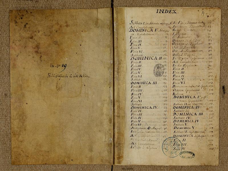 CAEN, Bibliothèque municipale, 0024 (041 in-4° 019), f. 000v - f. 00A