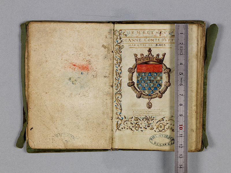 CAEN, Bibliothèque municipale, 0211 (469 in-8° 029), f. 00Dv - 001 réglet