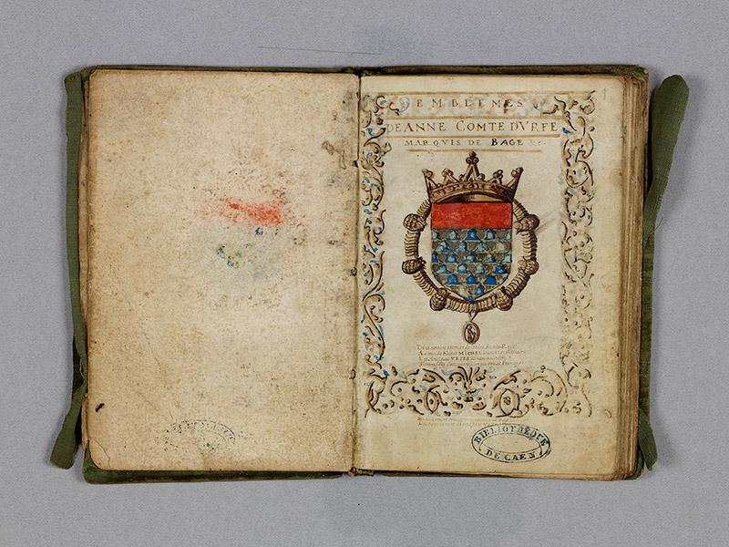 CAEN, Bibliothèque municipale, 0211 (469 in-8° 029), f. 00Dv - 001