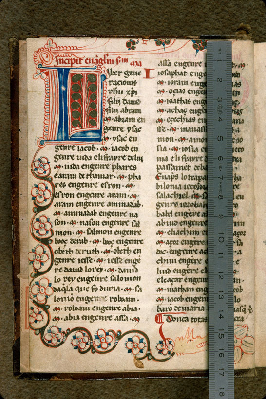 Carpentras, Bibl. mun., ms. 0008, f. 001v - vue 1