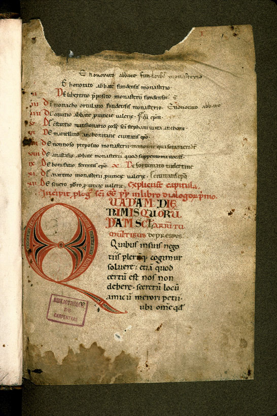Carpentras, Bibl. mun., ms. 0040, f. 001 - vue 2