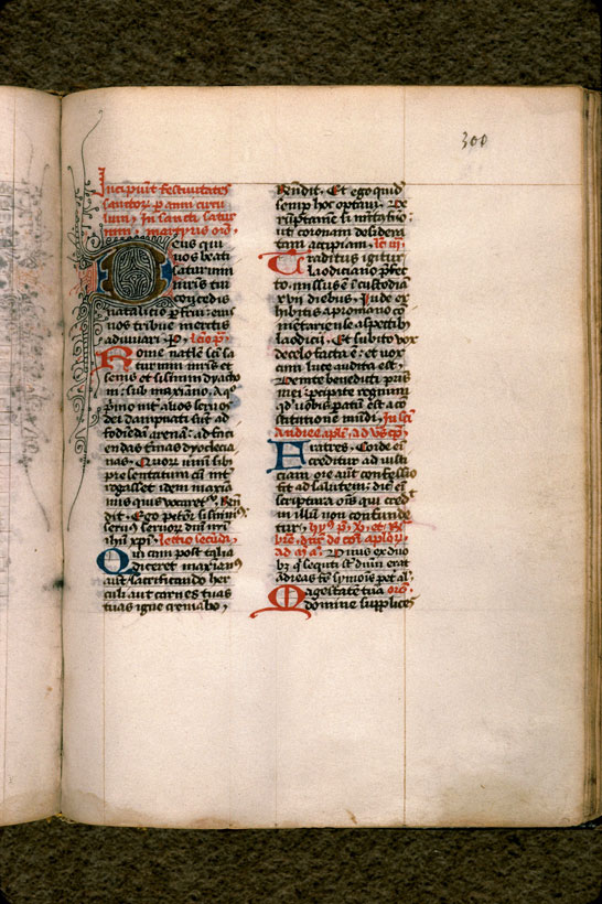 Carpentras, Bibl. mun., ms. 0044, f. 300 - vue 2