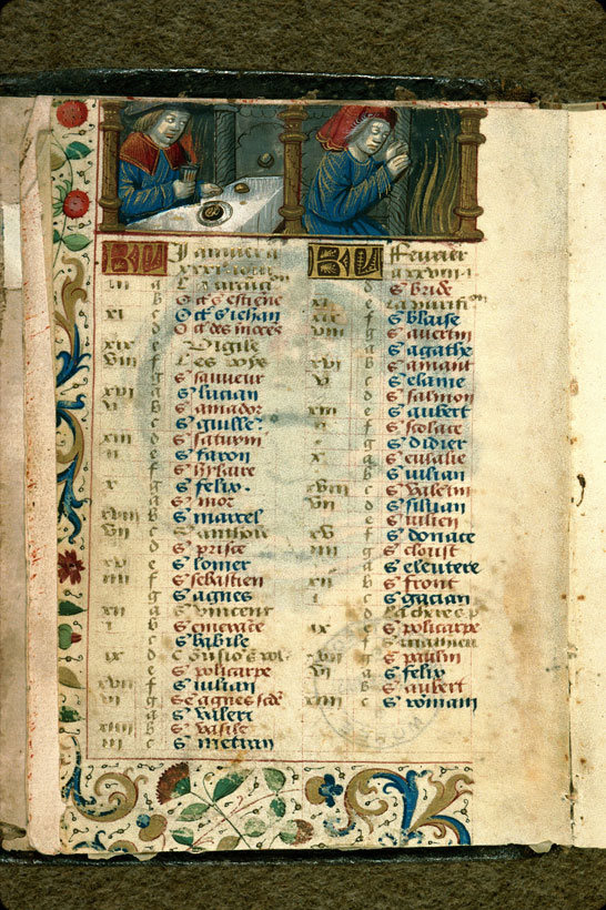 Carpentras, Bibl. mun., ms. 0054, f. 001v - vue 1