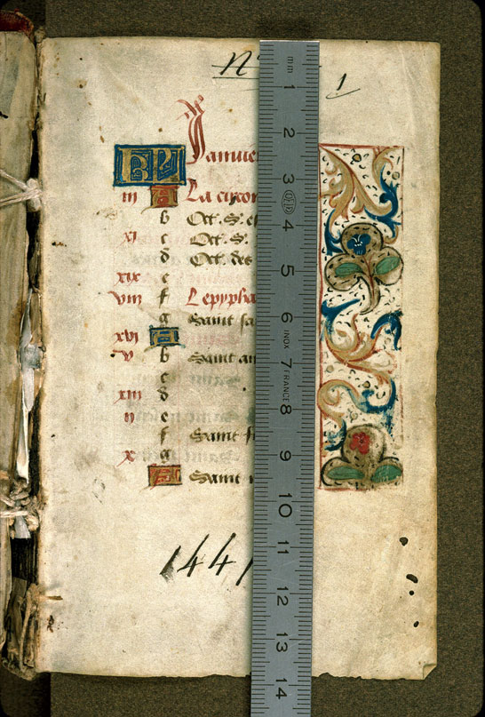 Carpentras, Bibl. mun., ms. 0058, f. 001 - vue 1