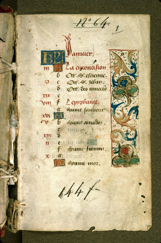 Carpentras, Bibl. mun., ms. 0058, f. 001 - vue 2