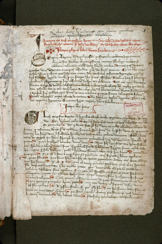 Carpentras, Bibl. mun., ms. 0156, f. 001 - vue 2