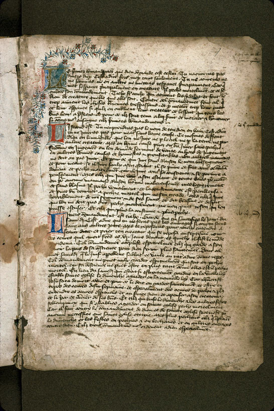 Carpentras, Bibl. mun., ms. 0158, f. 001 - vue 2