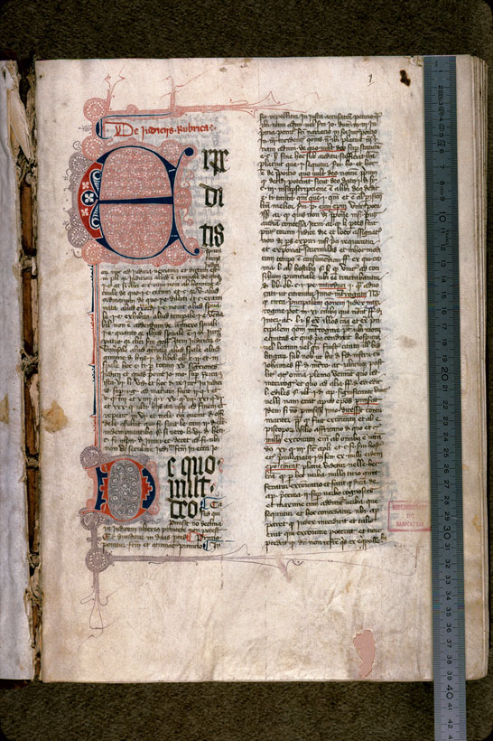 Carpentras, Bibl. mun., ms. 0171, f. 001 - vue 1