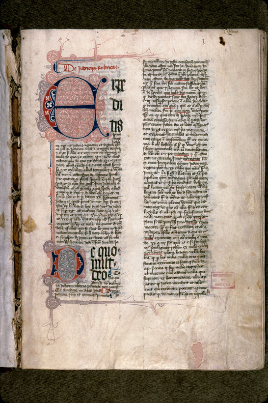 Carpentras, Bibl. mun., ms. 0171, f. 001 - vue 2