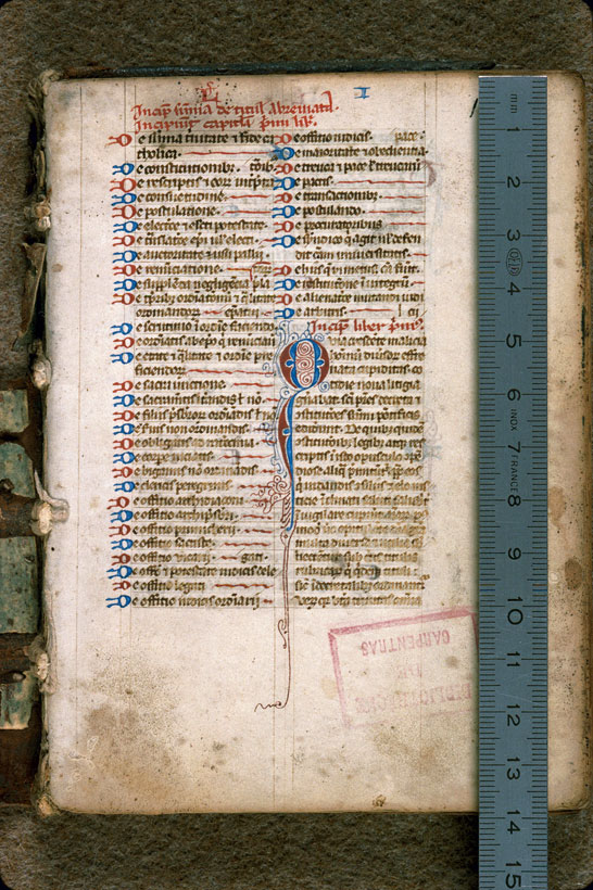 Carpentras, Bibl. mun., ms. 0184, f. 001 - vue 1