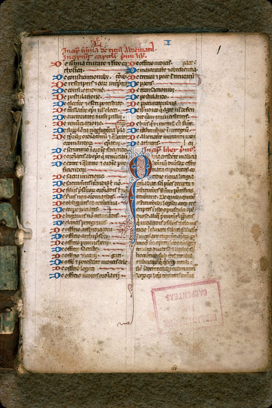 Carpentras, Bibl. mun., ms. 0184, f. 001 - vue 2