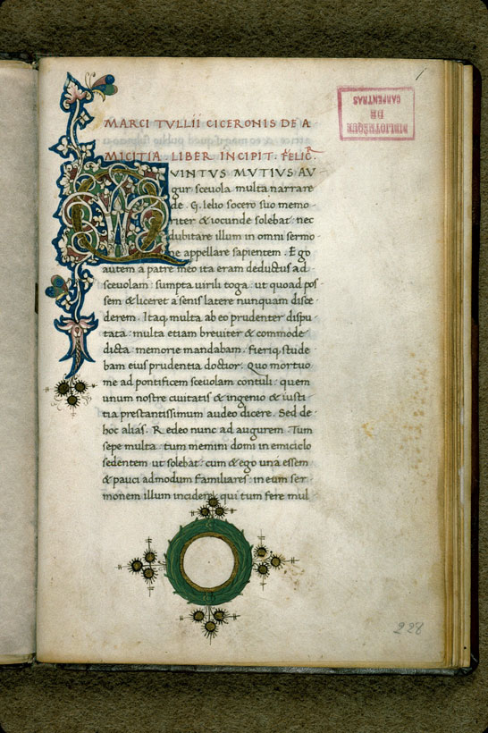Carpentras, Bibl. mun., ms. 0295, f. 001 - vue 2