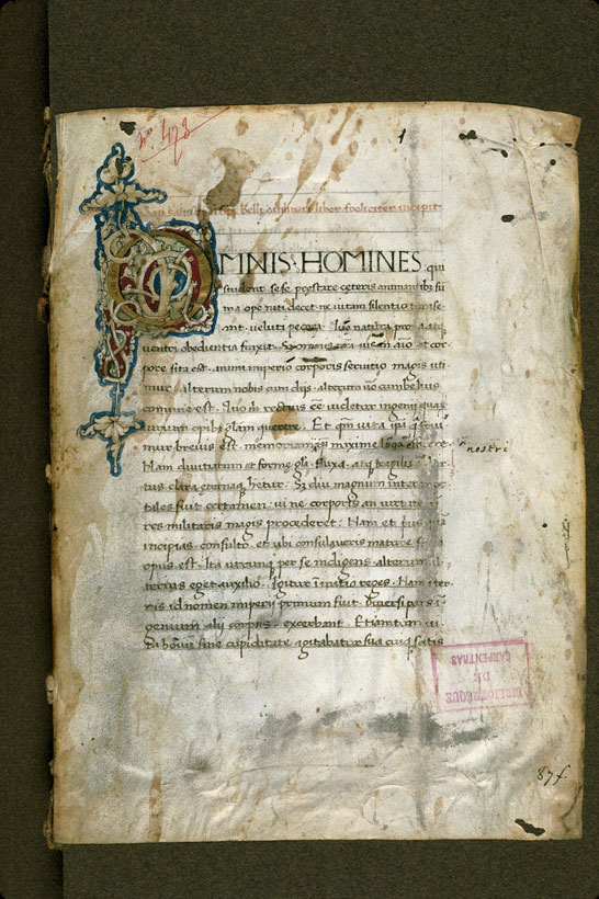 Carpentras, Bibl. mun., ms. 0481, f. 001 - vue 2