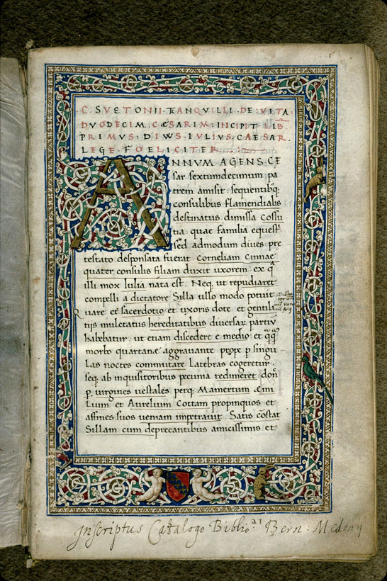 Carpentras, Bibl. mun., ms. 0483, f. 001 - vue 2
