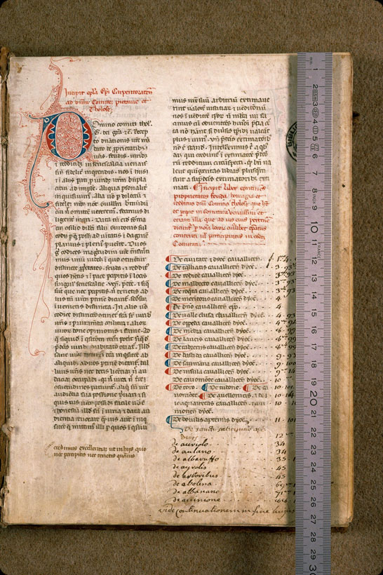 Carpentras, Bibl. mun., ms. 0557, f. 001 - vue 1