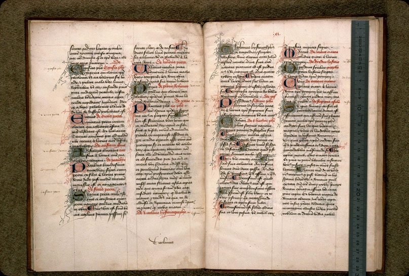 Carpentras, Bibl. mun., ms. 0619, f. 040v-041 - vue 1