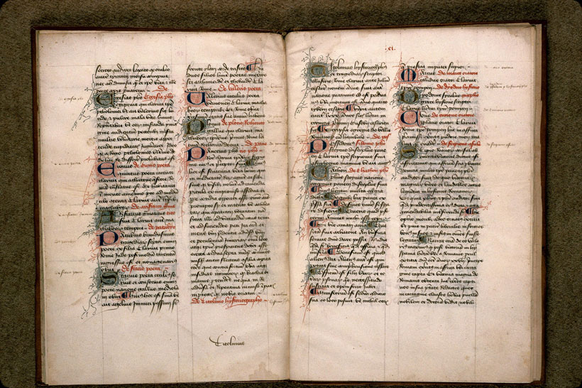 Carpentras, Bibl. mun., ms. 0619, f. 040v-041 - vue 2