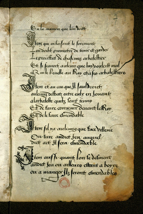Carpentras, Bibl. mun., ms. 0726, f. 007 - vue 2