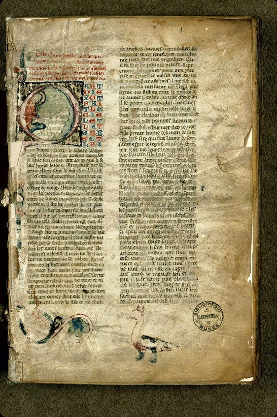 Carpentras, Bibl. mun., ms. 1260, f. 001 - vue 2