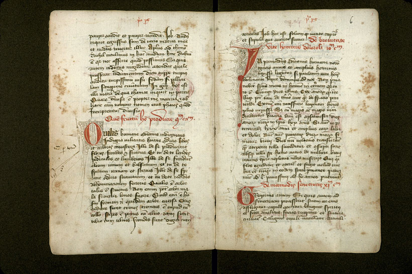 Carpentras, Bibl. mun., ms. 1277, f. 005v-006 - vue 2