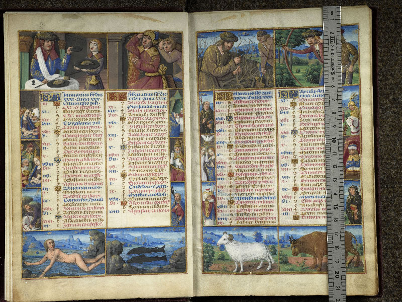 CHANTILLY, Bibliothèque du château, 0072 (1119), f. 001v - 002 avec réglet