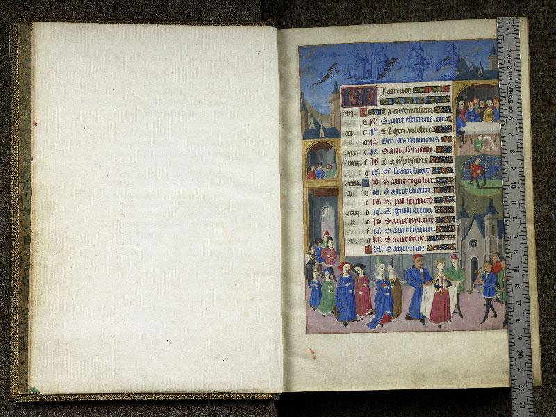 CHANTILLY, Bibliothèque du château, 0076 (1362), f.000Bv - 001 avec réglet