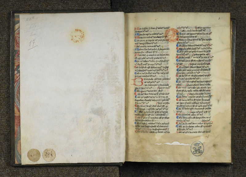 CHANTILLY, Bibliothèque du château, 0125 (0669), contregarde - p. 001
