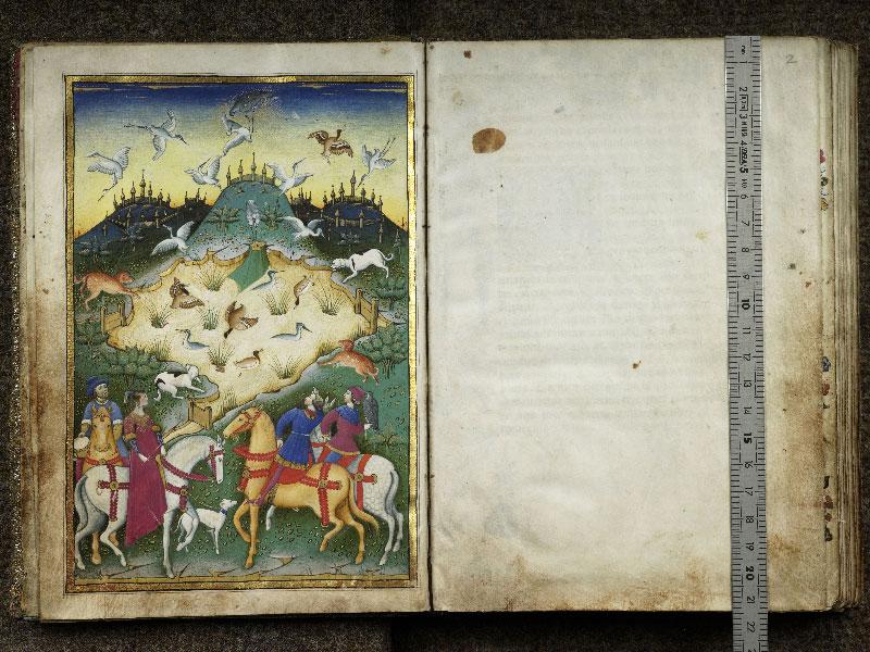 CHANTILLY, Bibliothèque du château, 0368 (1375), f. 001v - 002 avec réglet