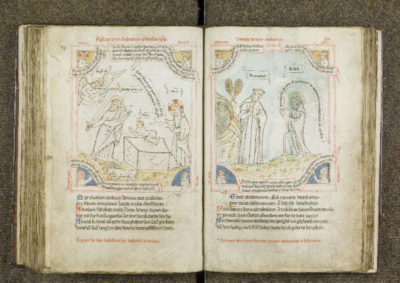 CHANTILLY, Bibliothèque du château, 0738 (1401), f. 122v - 123