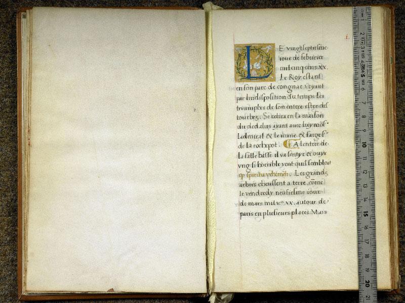 CHANTILLY, Bibliothèque du château, 0764 (1139), f. 000Cv - 001 avec réglet