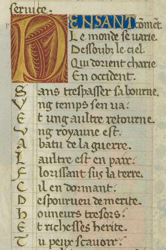 Chantilly, Bibl. du château, ms. 0296 (1512), f. 001v