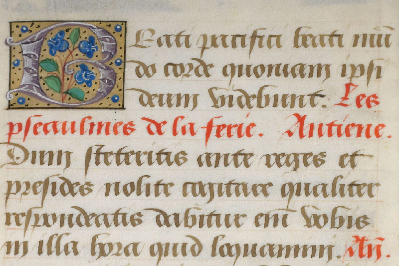 Chantilly, Bibl. du château, ms. 0061 (0811), f. 001v