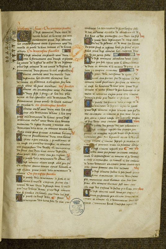 Chantilly, Bibl. du château, ms. 0730 (0455), f. 001