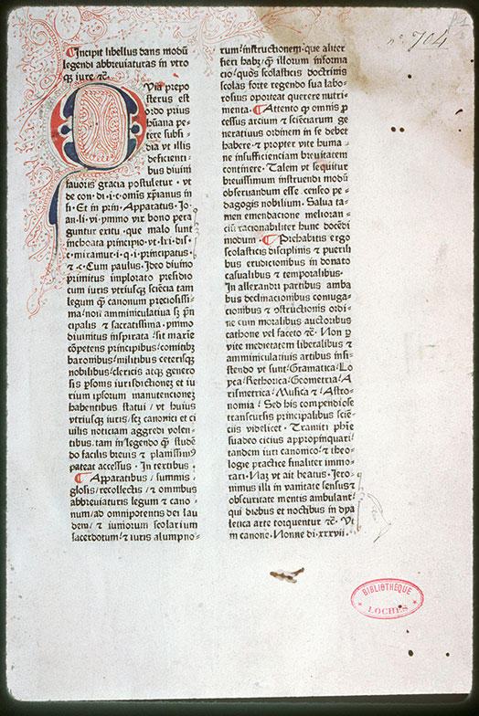 Loches, Bibl. mun., inc. 017, f. 001