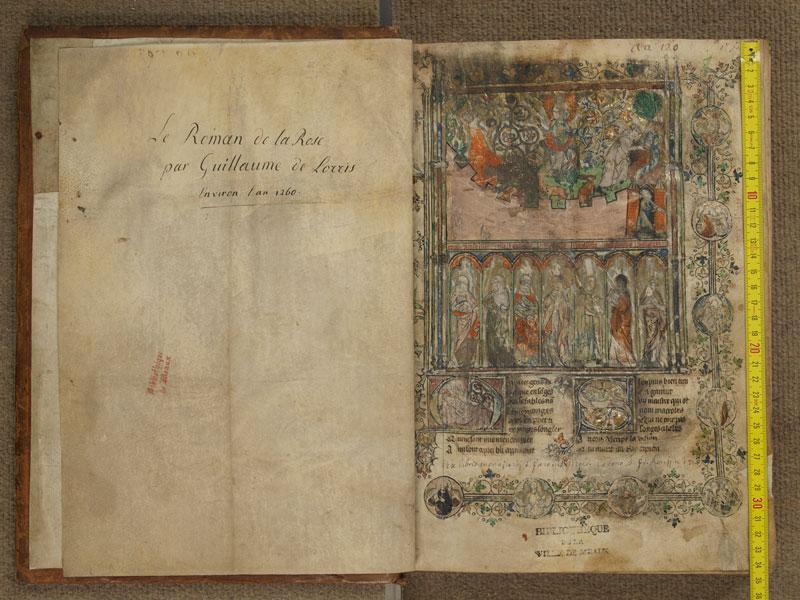 MEAUX, Bibliothèque municipale, 0052, contregarde - 001 avec réglet