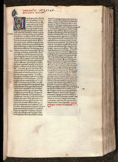 Paris, Bibl. Sainte-Geneviève, ms. 0014, f. 185