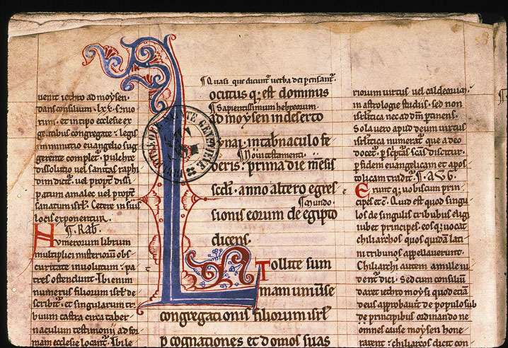 Paris, Bibl. Sainte-Geneviève, ms. 0044, f. 001v
