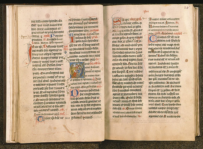 Paris, Bibl. Sainte-Geneviève, ms. 0097, f. 023v-024