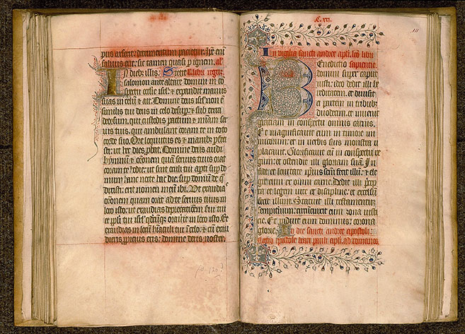 Paris, Bibl. Sainte-Geneviève, ms. 0105, f. 110v-111