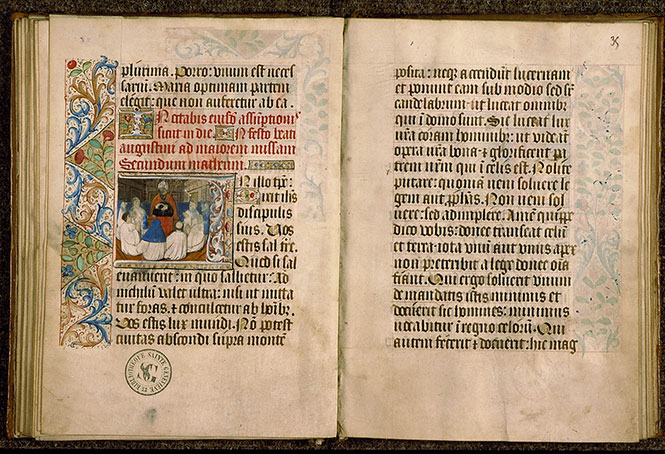 Paris, Bibl. Sainte-Geneviève, ms. 0110, f. 034v-035