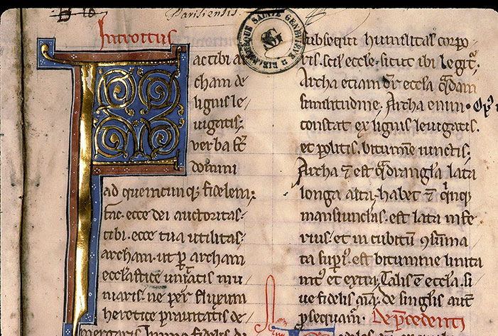 Paris, Bibl. Sainte-Geneviève, ms. 0259, f. 002