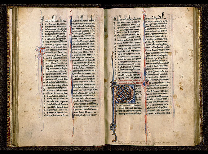 Paris, Bibl. Sainte-Geneviève, ms. 0586, f. 033v-034