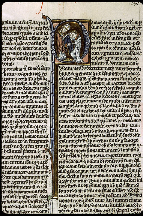 Paris, Bibl. Sainte-Geneviève, ms. 1180, f. 351