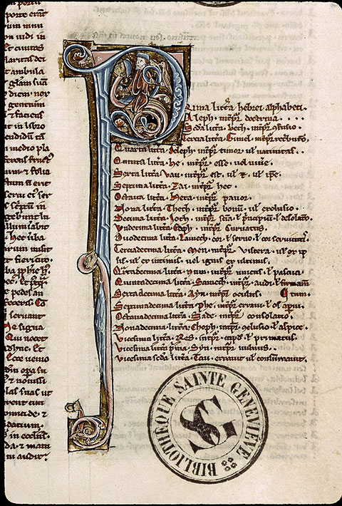 Paris, Bibl. Sainte-Geneviève, ms. 1185, f. 315