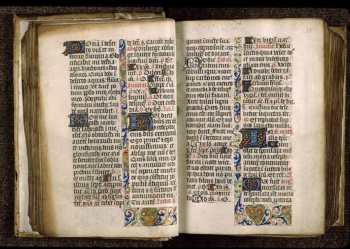 Paris, Bibl. Sainte-Geneviève, ms. 1265, f. 032v-033